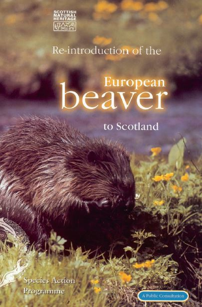 Re-introduction of the European beaver to Scotland - A Public Consultation front cover