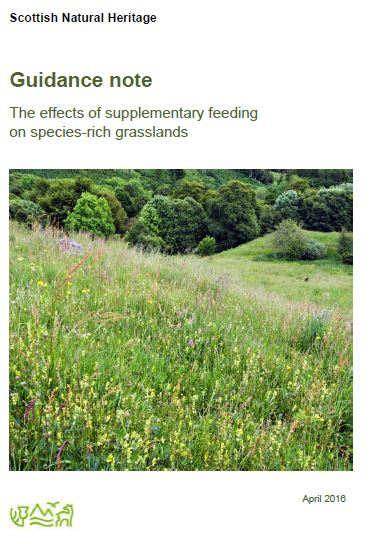 Guidance note: The effects of supplementary feeding on species-rich grasslands front cover