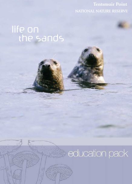Tentsmuir Point NNR - Life on the Sands - Education pack front cover