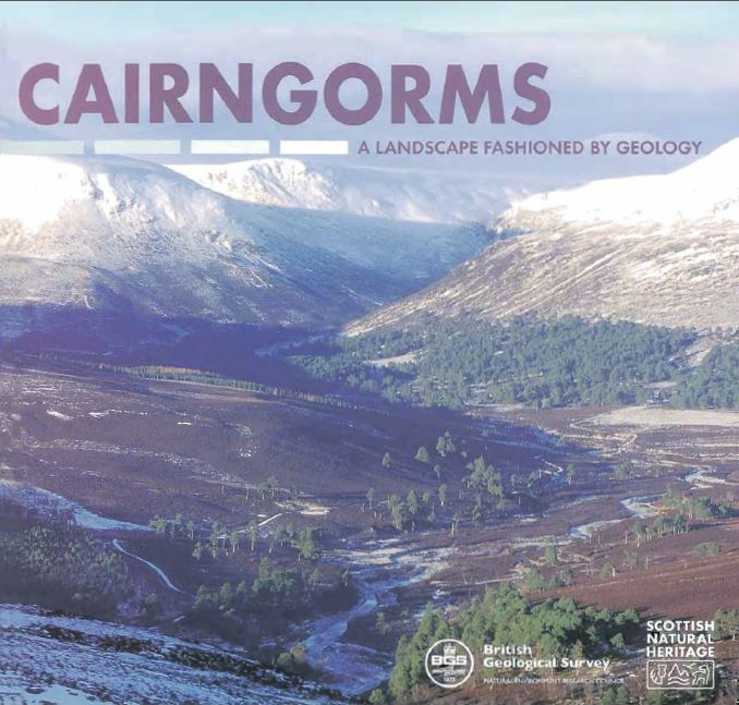 Landscape fashioned by geology - Cairngorms front cover