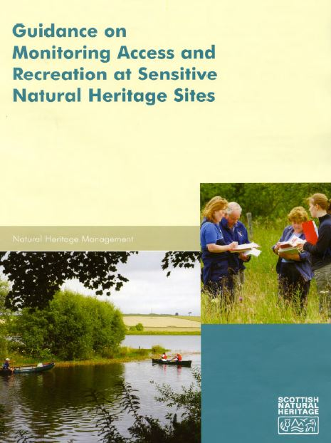 Guidance on Monitoring Access and Recreation at Sensitive Natural Heritage Sites front cover