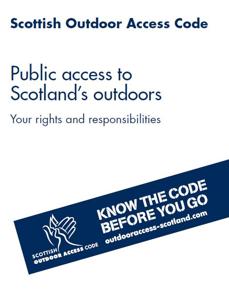 Scottish Outdoor Access Code front cover