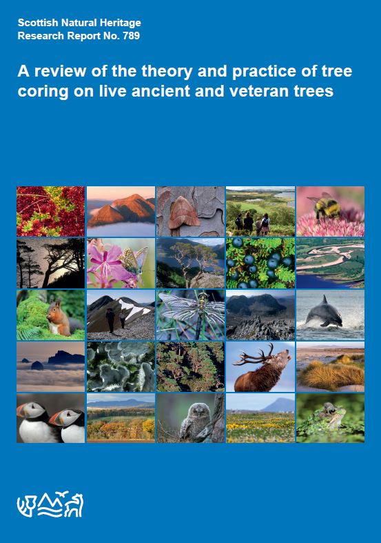 SNH Research Report 789 - A review of the theory and practice of tree coring on live ancient and veteran trees