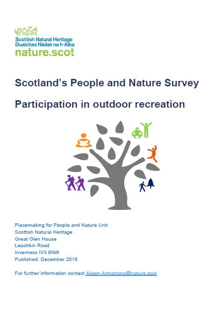 Scotland's People and Nature  Survey outdoor recreation front cover