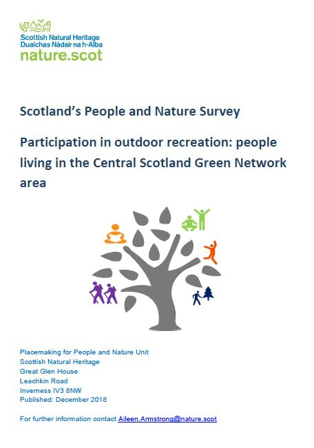 Scotland's People and Nature  Survey front cover