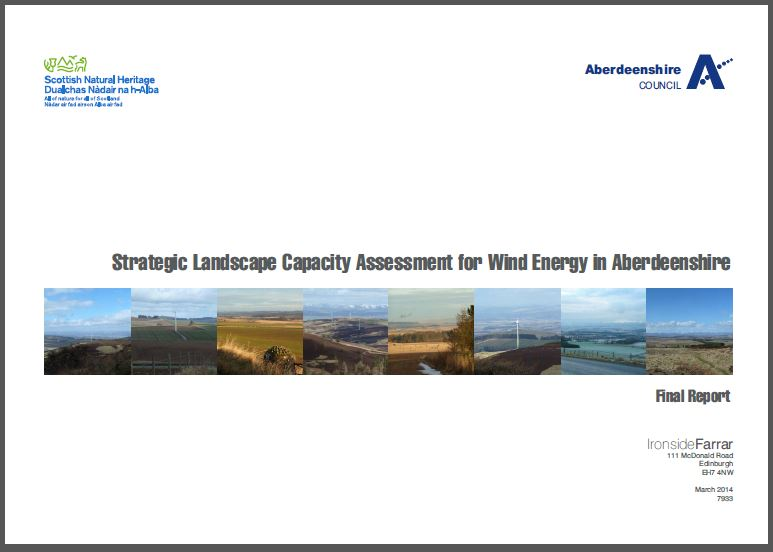 Strategic Landscape Capacity Assessment for Wind Energy in Aberdeenshire - front cover