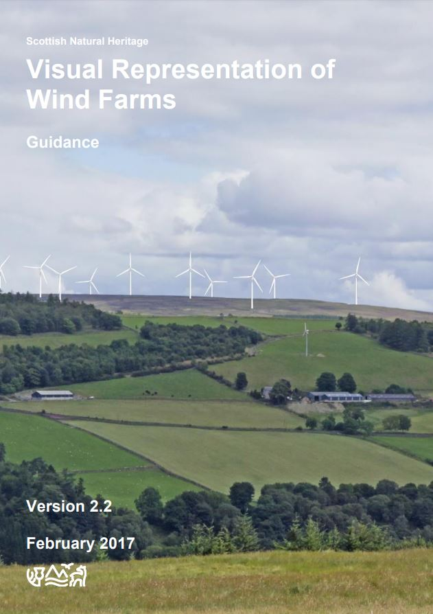 Visual representation of wind farms guidance front cover
