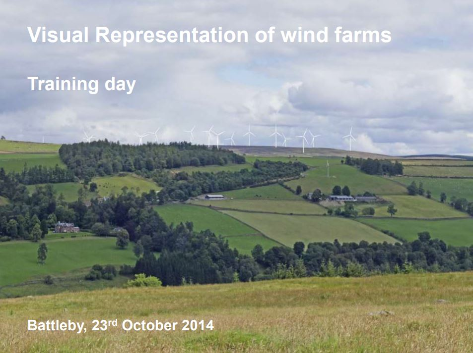 Visual representation of wind farms: Training day front cover