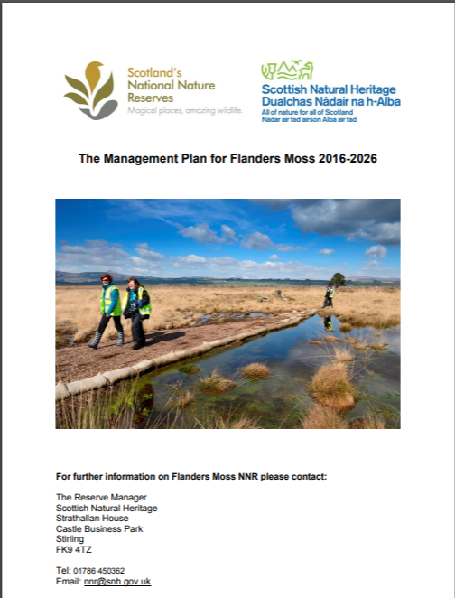 Flanders Moss NNR front cover