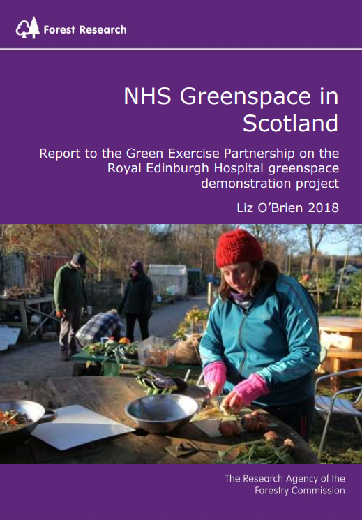 NHS Greenspace in Scotland Royal Edinburgh Hospital Report Front Cover