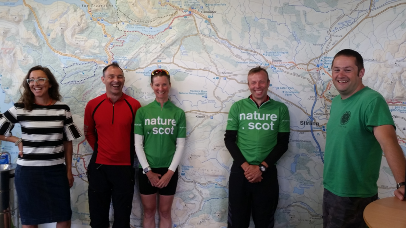 CycleForNature - Francesca and team at Stirling office