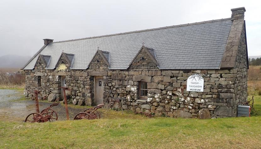 Staffin Museum which has an important role in the recovery and public display of Skye's Middle Jurassic vertebrate fossils. ©Ken White