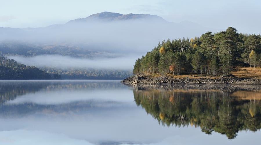 Autumn reflections at Glen Affric National Nature Reserve. ©Lorne Gill/SNH. For information on reproduction rights contact the Scottish Natural Heritage Image Library on Tel. 01738 444177 or www.nature.scot