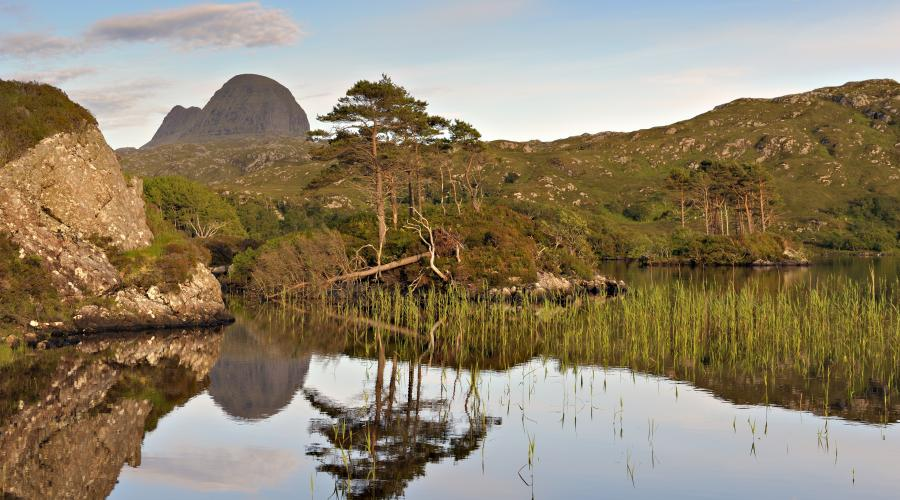 Assynt and Coigach IWA. View over Loch Canisp to Suilven ©Lorne Gill/SNH/2020VISION.  For information on reproduction rights contact the Scottish Natural Heritage Image Library on Tel. 01738 444177 or www.nature.scot