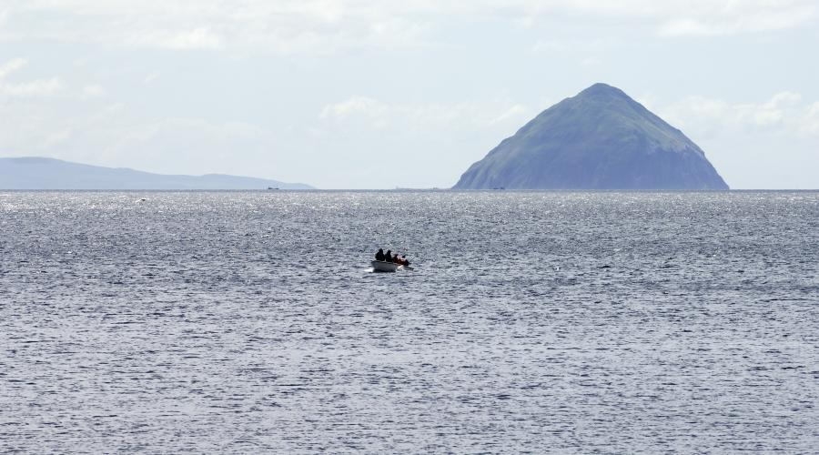 Ailsa Craig in the Firth of Clyde, Strathclyde and Ayrshire Area. ©Lorne Gill/SNH. For information on reproduction rights contact the Scottish Natural Heritage Image Library on Tel. 01738 444177 or www.nature.scot