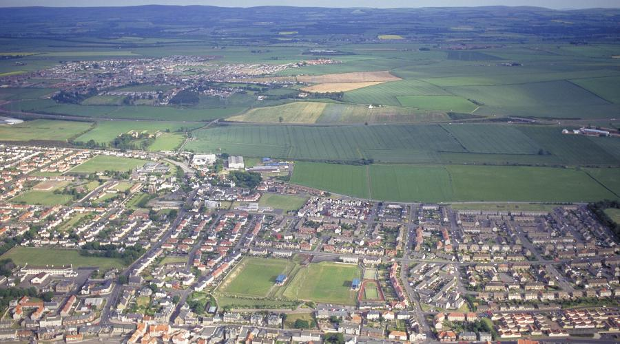 Aerial view old Prestonpans June 1996