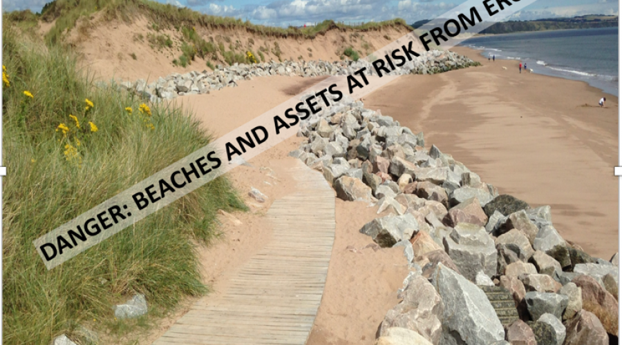 Beach at risk - Jim Hansom. NON SNH COPYRIGHT, FOR SNH USE ONLY ON THE WEBSITE.