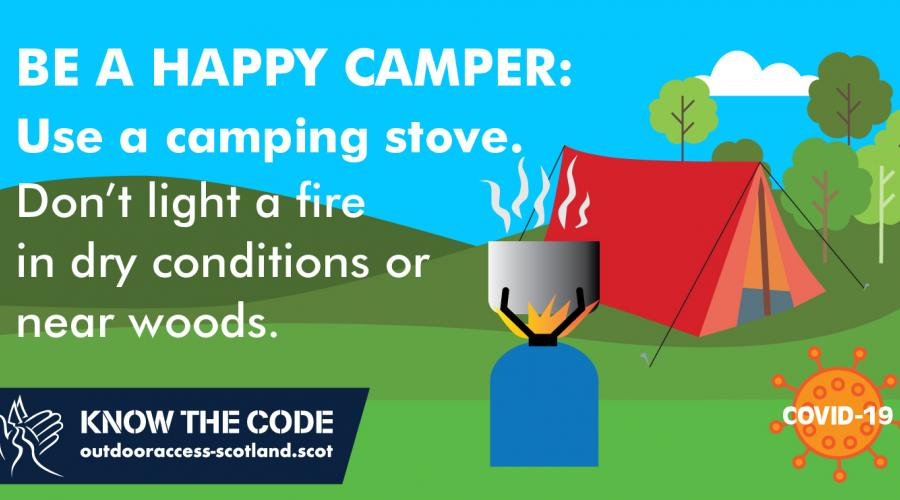Be a happy camper. Use a stove. Don't light fires near woodland.