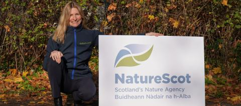 Francesca Osowska with NatureScot logo