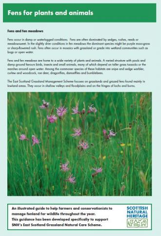 Fens for Plants and Animals front cover