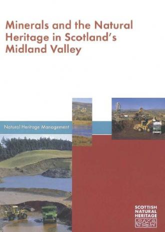 Minerals and the Natural Heritage in Scotland's Midland Valley front cover