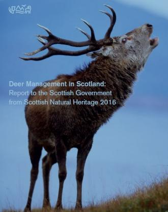 Deer Management in Scotland: Report to the Scottish Government from Scottish Natural Heritage 2016 front cover