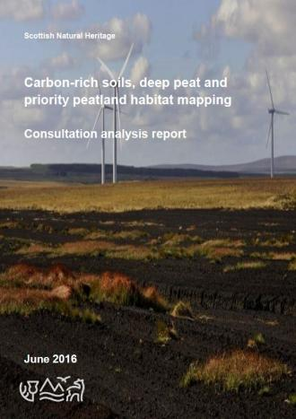 Carbon and peatland map consultation front cover