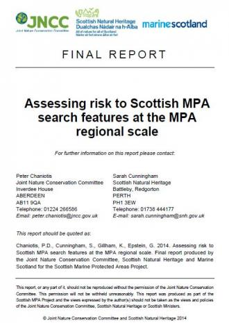 Assessing Risk to Scottish MPA front cover