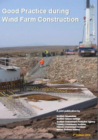 Good practice during wind farm construction - front cover