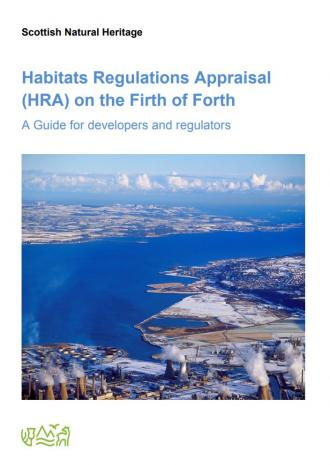 front cover of Habitats Regulations Appraisal (HRA) on the Firth of Forth - A Guide for developers and regulators publication
