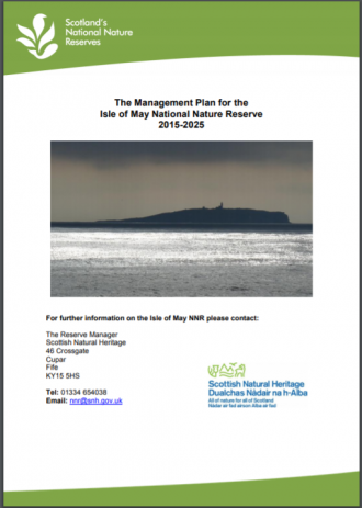 Isle of May NNR front cover
