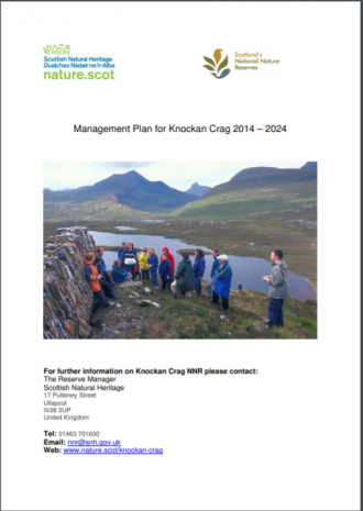Knockan Crag NNR front cover