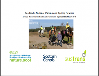 National Walking and Cycling Network - Annual Report - front cover
