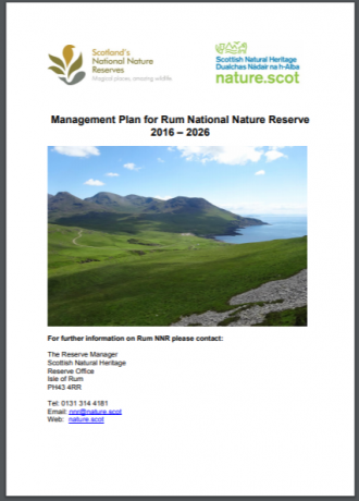 Rum NNR front cover