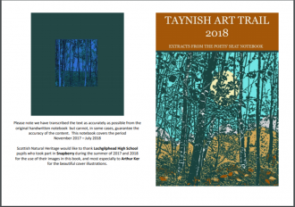 Taynish NNR Poets Seat Booklet front cover