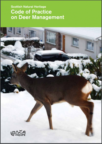 Code of Practice on Deer Management front cover