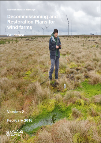 Guidance - Decommissioning and restoration plans for wind farms - front cover