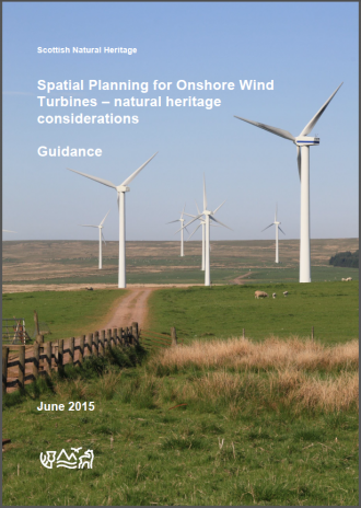 Guidance - Spatial Planning for Onshore Wind Turbines - natural heritage considerations - front cover