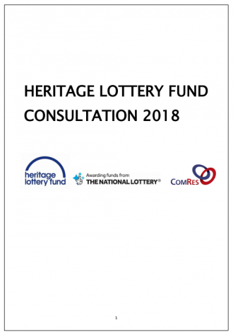 Heritage Lottery Fund Consultation 2018 Front Cover
