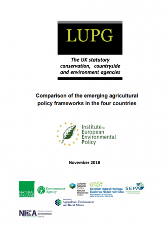 IEEP briefing on UK Agricultural Policy Developments 2018 Front Cover