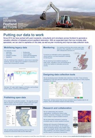Peatland ACTION poster: Putting our data to work - an overview 2019