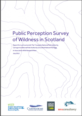 Public Perception Survey of Wildness in Scotland front cover