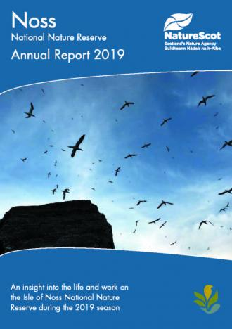 Front cover of 2019 Noss NNR Annual Report