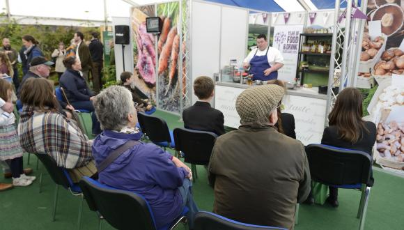 Scotland's natural larder display and activities at the Royal Highland Show June 2015. ©Lorne Gill/SNH. For information on reproduction rights contact the Scottish Natural Heritage Image Library on Tel. 01738 444177 or www.nature.scot