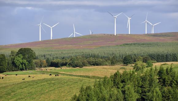 Windfarm . ©Lorne Gill/SNH. For information on reproduction rights contact the Scottish Natural Heritage Image Library on Tel. 01738 444177 or www.nature.scot