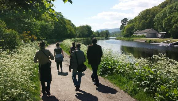 Waterways Trust Health Walk for Wellbeing along Caledonian Canal ©Stephen Wiseman