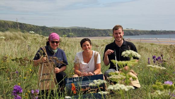 Take 3 For the Sea launch initiative, St Cyrus NNR, MSP for Angus North and Mearns Mairi Gougeon. ©Pauline Smith