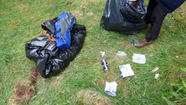 Litter at nature reserve
